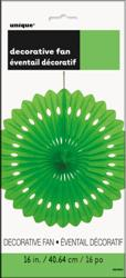 DECORATIVE FAN LIME GREEN 40cm 16in