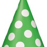 Lime Green Polka Dots Party Hats