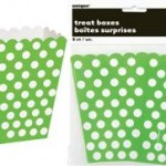 DOTS LIME GREEN 8 TREAT BOXES