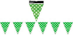 DOTS LIME GREEN FLAG BANNER