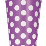 DOTS PRETTY PURPLE PAPER CUPS