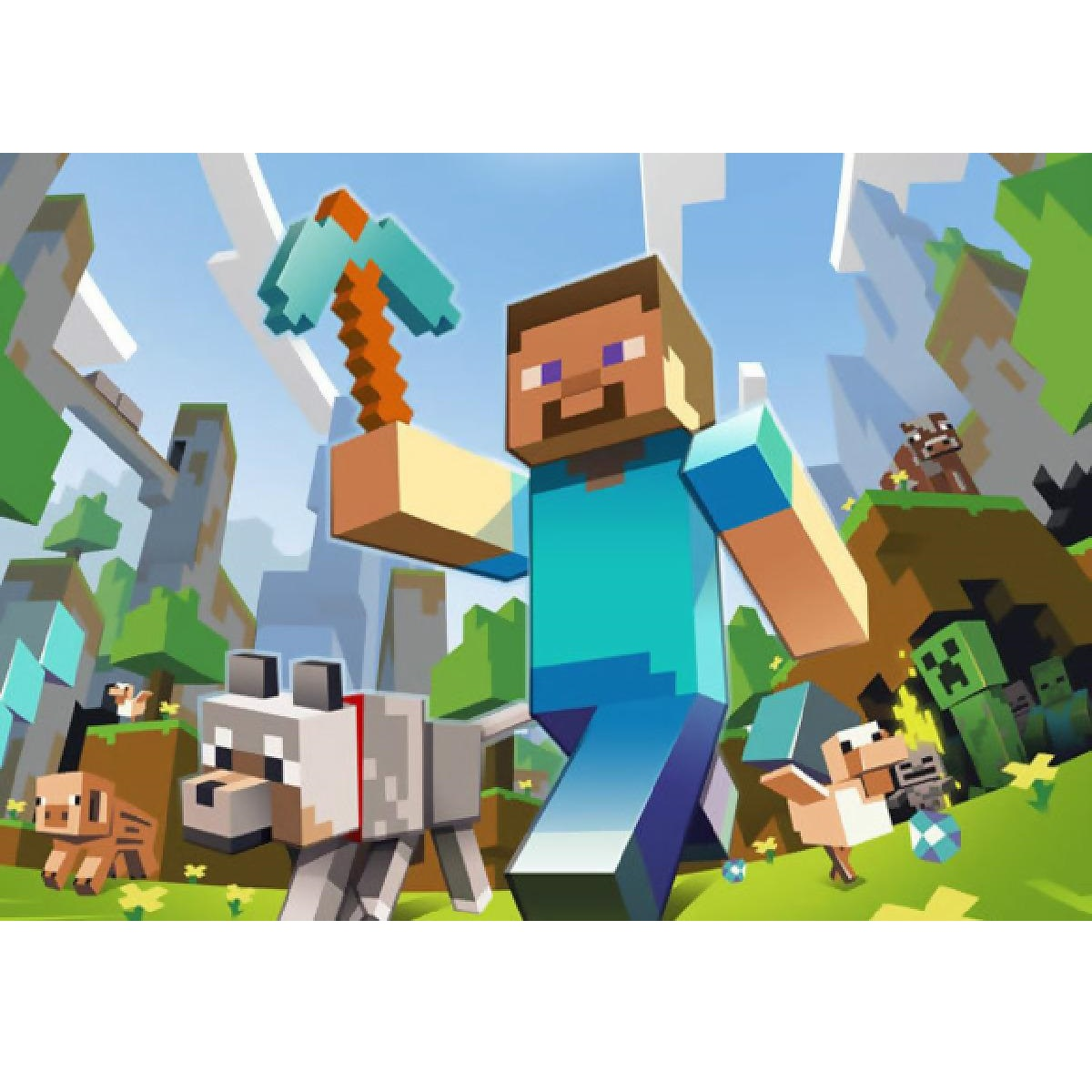 minecraft picture of steve