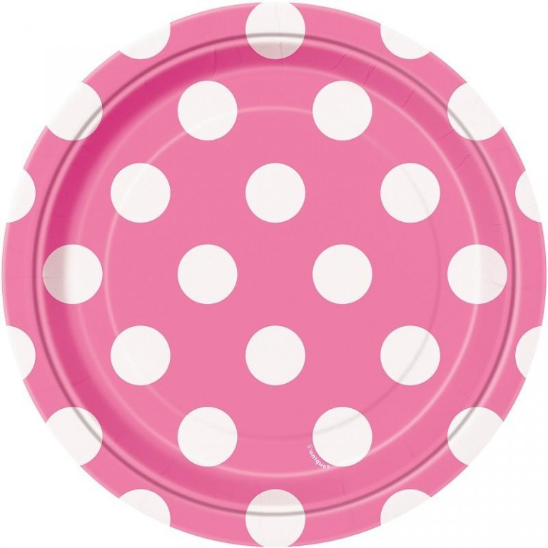 pink polka dot paper plates Colored tableware party supplies : you will find both paper and plastic offered in plates  hot pink polka dots:.