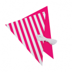 hot pink party flags