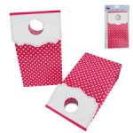 pink poka dot party bag with cuff
