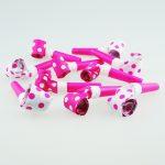 pink polka dot blowouts