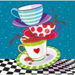 Mad Hatter Tea Party Beverage Napkins