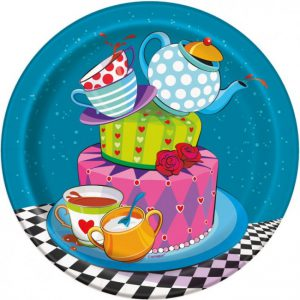 Mad Hatter Tea Party Dessert Paper Plates