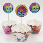 Shopkins Cupcake Wrappers with Toppers