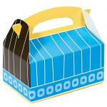 Blue, Black and Yellow Empty Favor Boxes