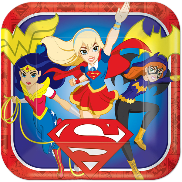 DC Super Hero Girls Dinner Plates
