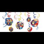 DC Super Hero Girls Swirl Decorations 12ct