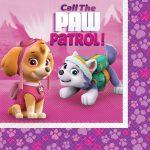 Pink Paw Patrol Lunch Napkins