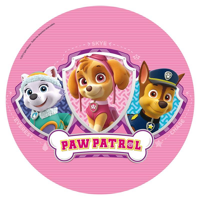 Paw patrol pink. Cake image party supplies