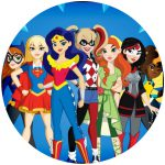 Super Hero Girls Cake Icing Image-1
