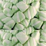 Green & White Twist Marshmallows 1kg-1