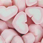 Pink & White Marshmallows Heart 1kg
