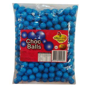 blue choc balls