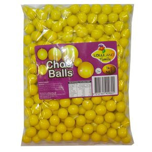 yellow choc balls