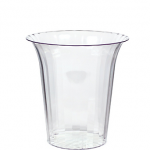 CLEAR Plastic Flared Cylinder Container 40oz