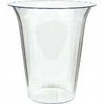 CLEAR Plastic Flared Cylinder Container 80oz