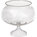 CLEAR Plastic Pedestal Bowl 60oz