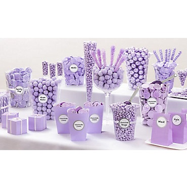 Lavender Candy Buffet