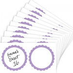 Lavender Favor Sticker Labels 20ct