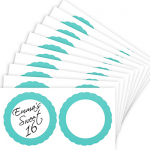 Robin's Egg Blue Favor Sticker Labels 20ct