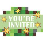 Minecraft Invitations 8ct