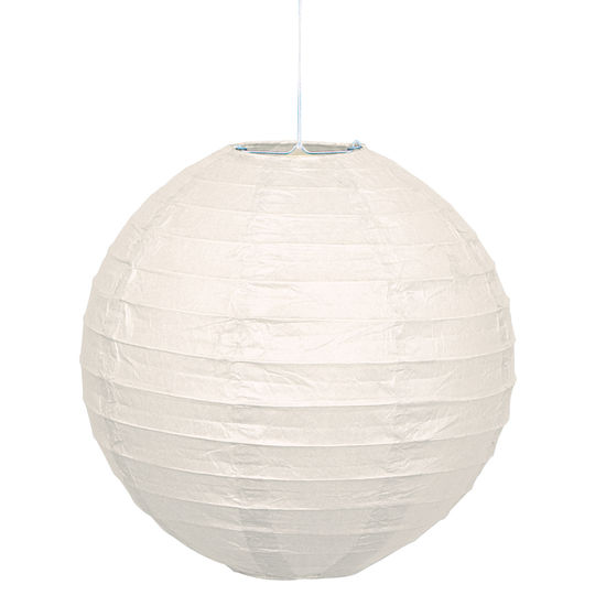 Round paper lantern white white party supplies this party started - Ikea suspension papier ...