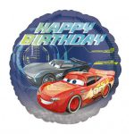 Cars 3 Happy Birthday Foil Balloon