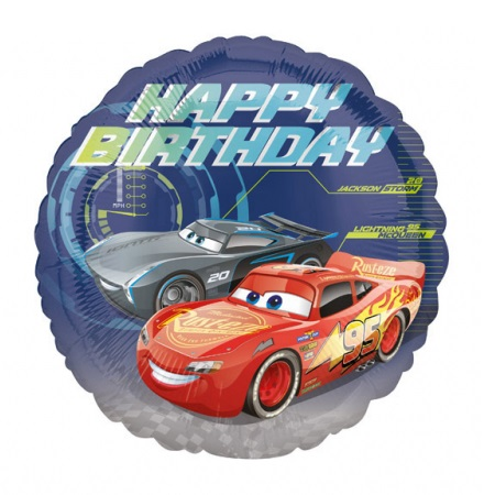 Cars 3 Happy Birthday Foil Balloon