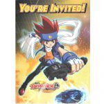 Beyblade Paper Invitations