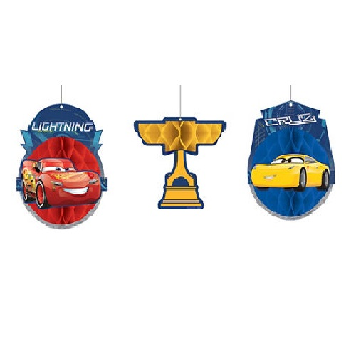 Cars 3 Honeycomb Balls 3ct