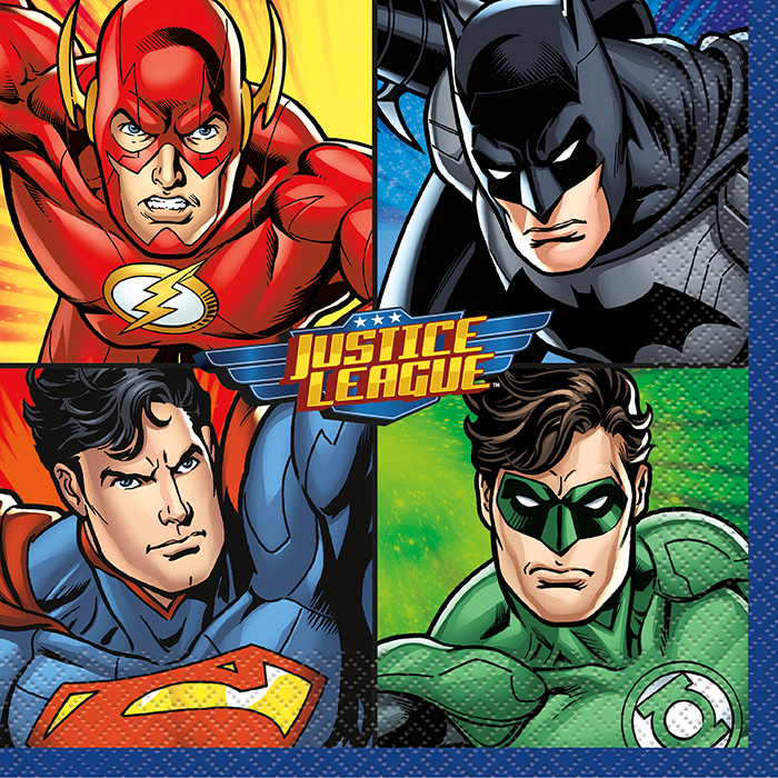 Justice League Lunch Napkin