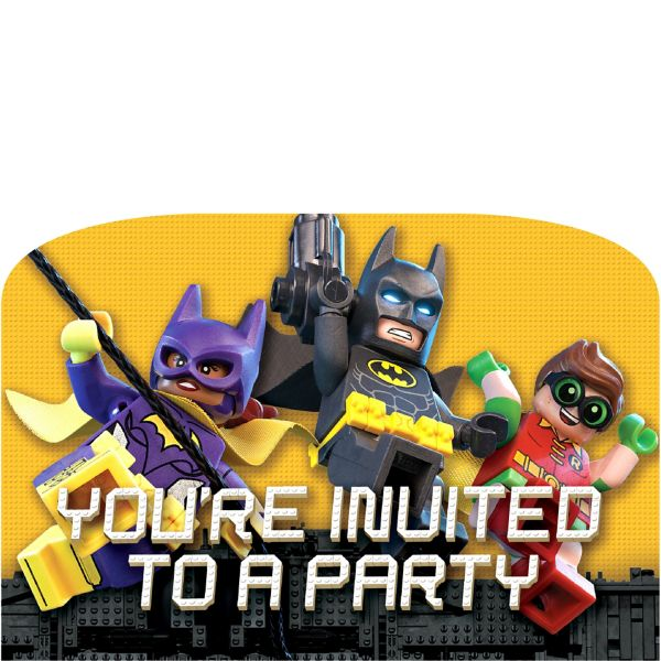 Lego Batman Movie Invitations 8ct