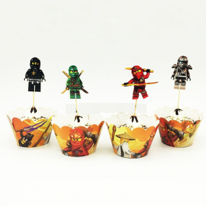 Ninjago Cupcake Toppers Amp Wrappers Ninjago Party