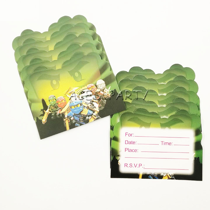 Ninjago Party Invitations