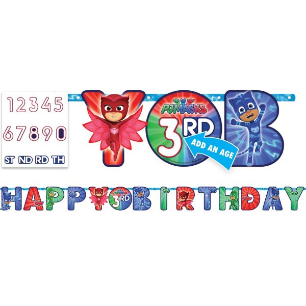 PJ Masks Birthday Banner