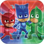 PJ Masks Lunch Plates 8ct