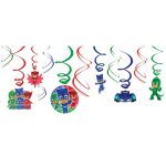 PJ Masks Hanging Swirl Decorations