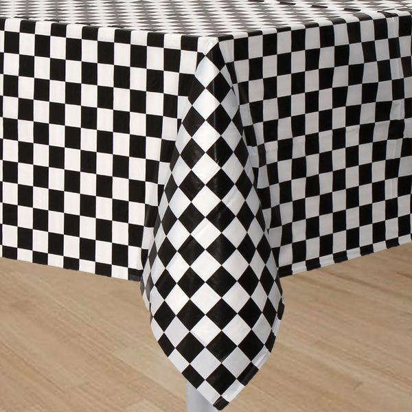 Black and White Checkered Tablecover
