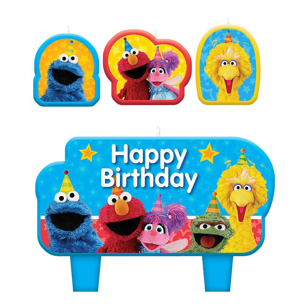 Sesame Street Candles 4ct