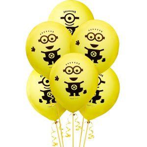 Minions Balloons 6ct