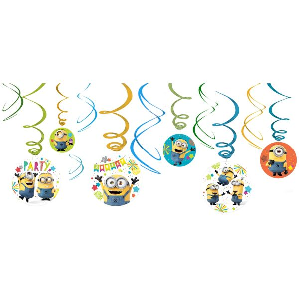 Minions Swirl Decorations