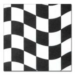 Black & White Checkered Lunch Napkins