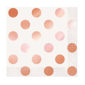 Rose Gold Beverage Napkins 16ct