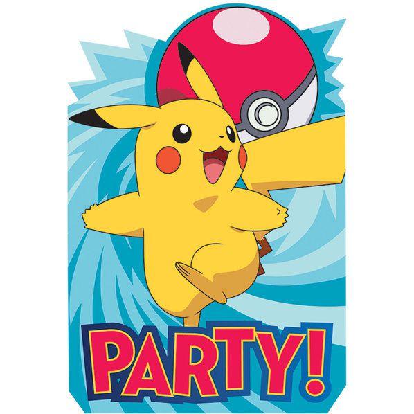 Pokemon Core Invitations