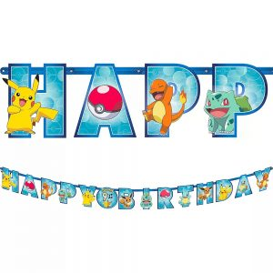 Pokemon Jumbo Birthday Banner